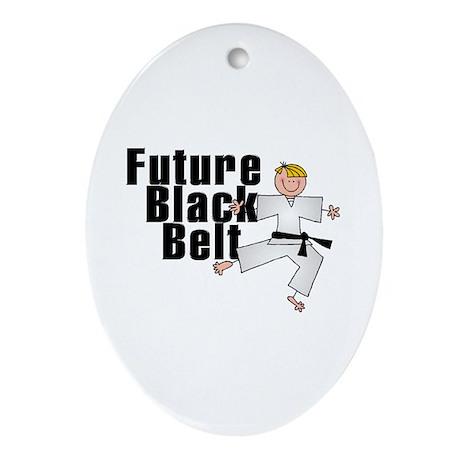 Blonde Future Black Belt Oval Ornament