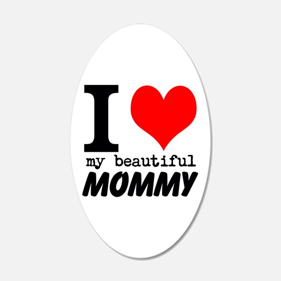 I Heart My Beautiful Mommy Decal Wall Sticker