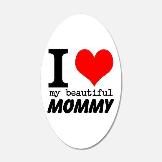 I Heart My Beautiful Mommy Wall Sticker