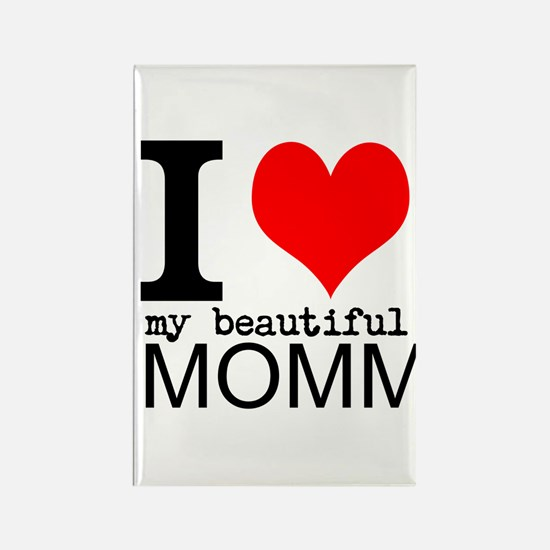 I Heart My Beautiful Mommy Rectangle Magnet