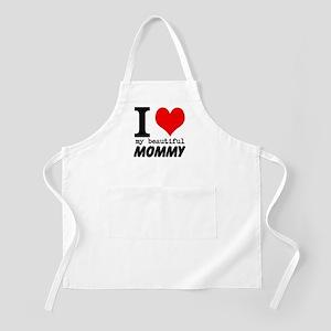 I Heart My Beautiful Mommy Apron