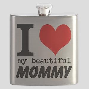 I Heart My Beautiful Mommy Flask