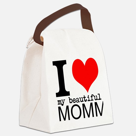 I Heart My Beautiful Mommy Canvas Lunch Bag