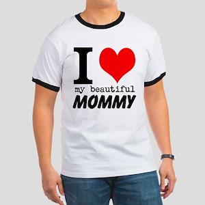 I Heart My Beautiful Mommy Ringer T