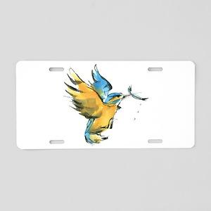 Kingfisher Aluminum License Plate