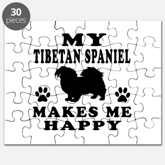My Tibetan Spaniel makes me happy Puzzle