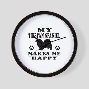 My Tibetan Spaniel makes me happy Wall Clock