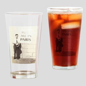Meet Me in Paris Drinking Glass