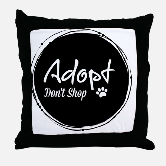 Funny Stop puppy mills Throw Pillow