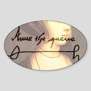 Anne Boleyn Sticker (Oval)