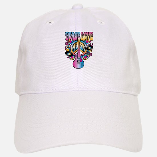 Peace Love & Music Baseball Baseball Baseball Cap