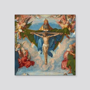 """Adoration of the Trinity by Square Sticker 3"""" x 3"""""""