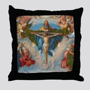 Adoration of the Trinity by Albrecht  Throw Pillow
