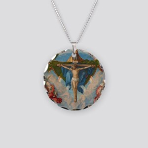 Adoration of the Trinity by  Necklace Circle Charm