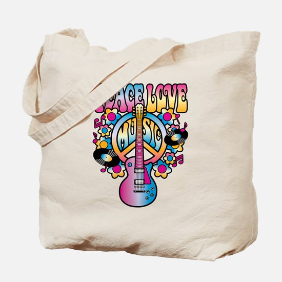 Peace Love & Music Tote Bag