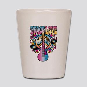 Peace Love & Music Shot Glass