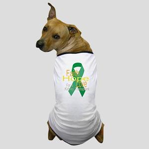 Faith,Hope,love For a Kidney Transplant Ribbon Dog
