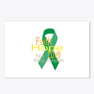 Faith,Hope,love For a Kidney Transplant Ribbon Pos