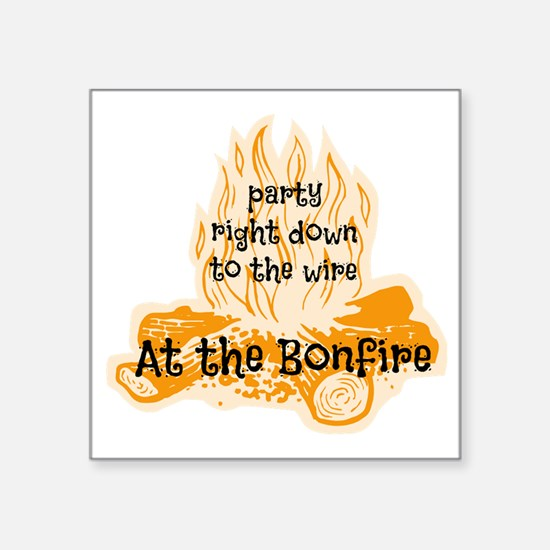 "Bonfire Square Sticker 3"" x 3"""