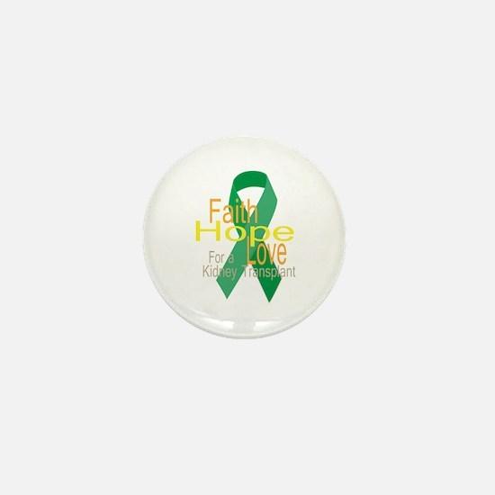 Faith,Hope,love For a Kidney Transplant Ribbon Min