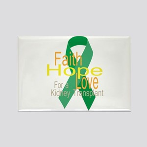 Faith,Hope,love For a Kidney Transplant Ribbon Mag