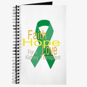 Faith,Hope,love For a Kidney Transplant Ribbon Jou