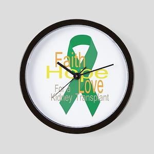 Faith,Hope,love For a Kidney Transplant Ribbon Wal