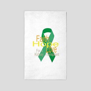 Faith,Hope,love For a Kidney Transplant Ribbon 3'x