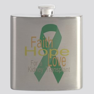Faith,Hope,love For a Kidney Transplant Ribbon Fla