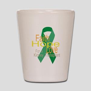 Faith,Hope,love For a Kidney Transplant Ribbon Sho
