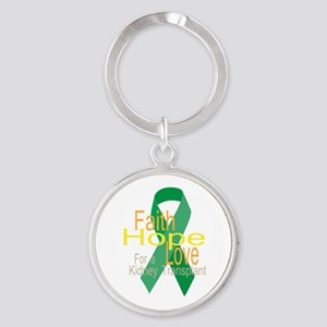 Faith,Hope,love For a Kidney Transplant Ribbon Key