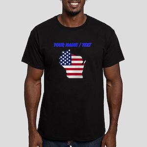 Custom Wisconsin American Flag T-Shirt