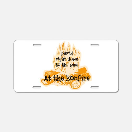 Bonfire Aluminum License Plate
