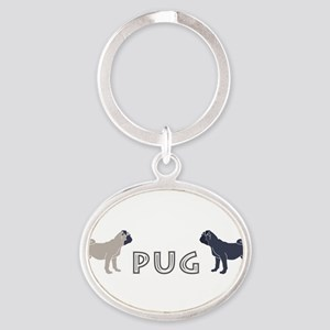 3-Fawn-and-Black-PUG Keychains