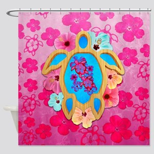 Hawaiian Tropical Honu Shower Curtain