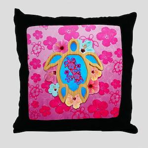 Hawaiian Tropical Honu Throw Pillow