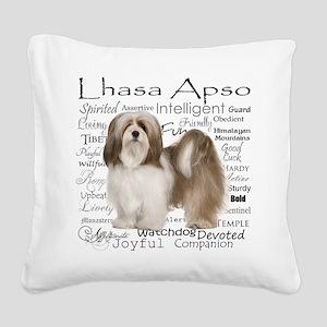 Lhasa Apso Traits Square Canvas Pillow
