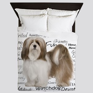 Lhasa Apso Traits Queen Duvet