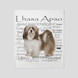 Lhasa Apso Traits Throw Blanket