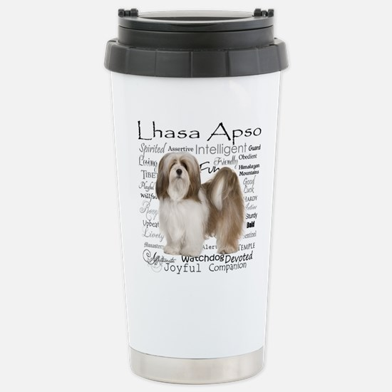 Lhasa Apso Traits Travel Mug