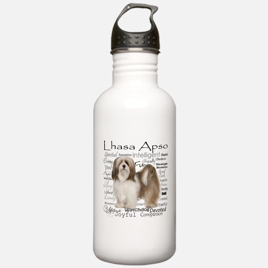 Lhasa Apso Traits Water Bottle