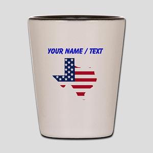 Custom Texas American Flag Shot Glass