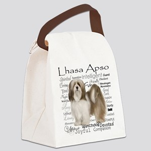 Lhasa Apso Traits Canvas Lunch Bag