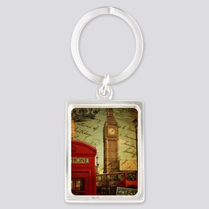 vintage London UK fashion  Portrait Keychain