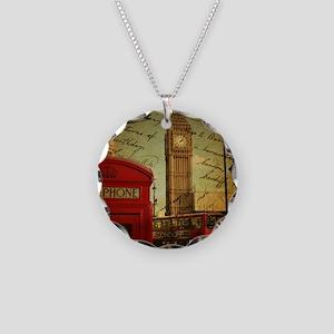 vintage London UK fashion  Necklace Circle Charm