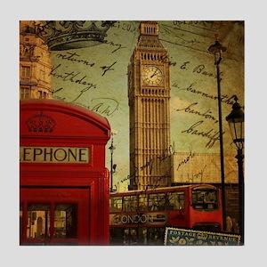 vintage London UK fashion  Tile Coaster