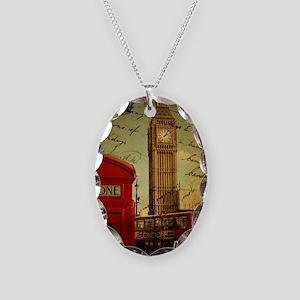vintage London UK fashion  Necklace Oval Charm