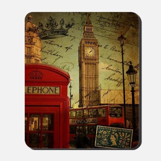 vintage London UK fashion  Mousepad