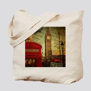 vintage London UK fashion  Tote Bag
