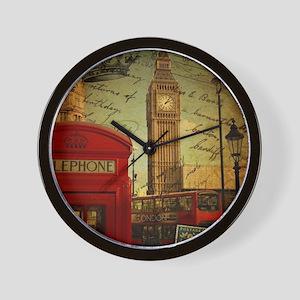 vintage London UK fashion  Wall Clock